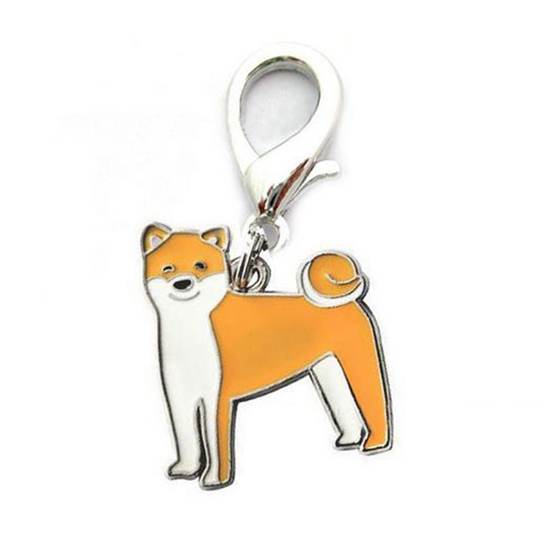 Metal Dog Key Chain Lovely Puppy Pendant Keyring Keychain Woman Bag Charm Gift Shiba Inu_2.5cm