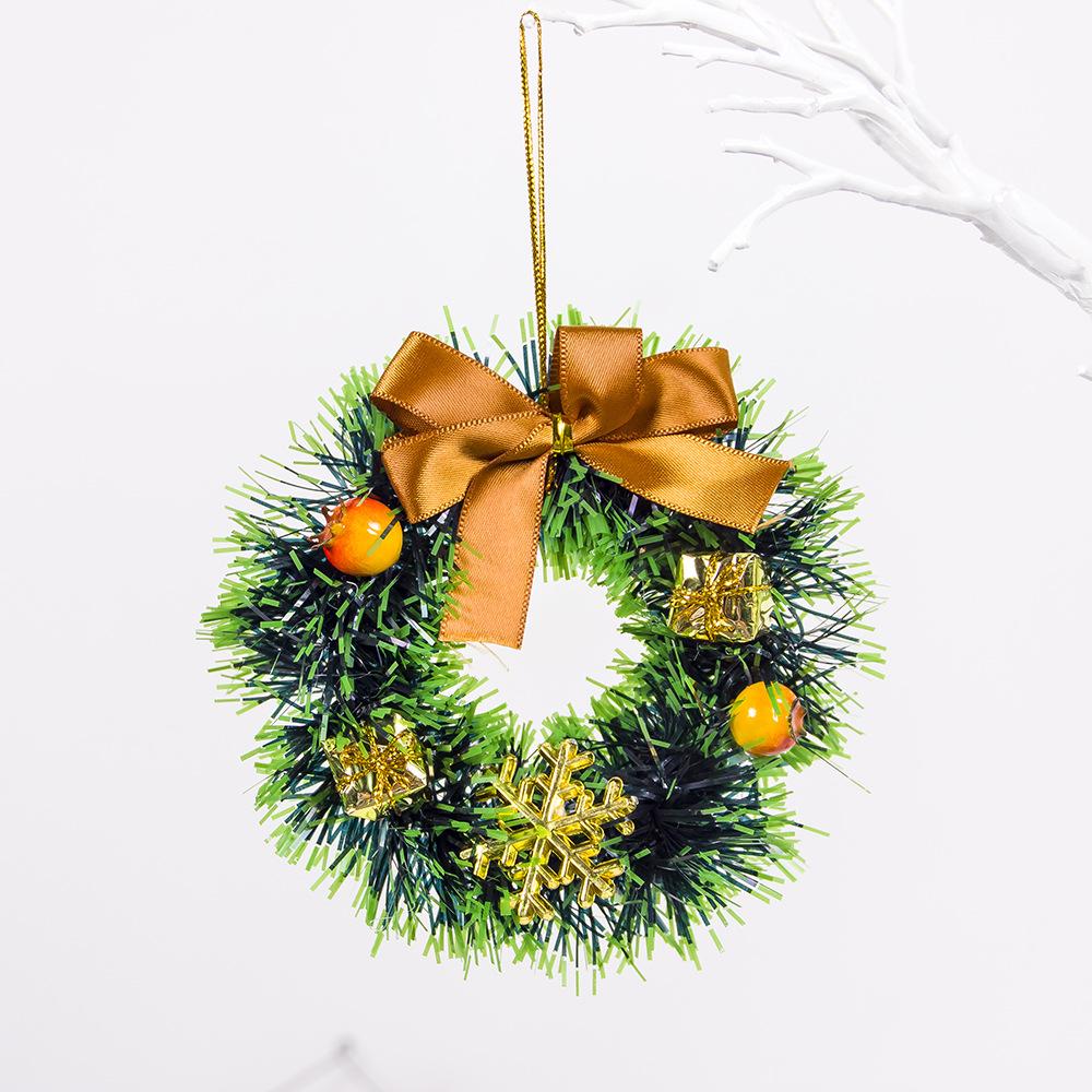 Christmas Decorative Ornaments Red Fruit Gift Bag Garland Pendant Mini Christmas Garland Wreath C green gift bag snowflake