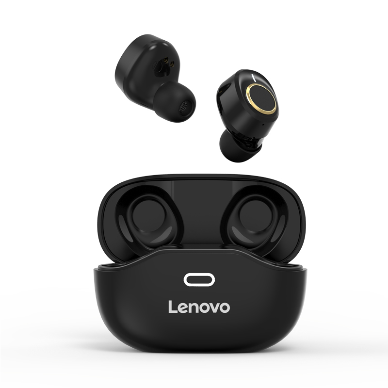 Original LENOVO X18 Bluetooth Headset Wireless Sports Ipx4 Light Touch Button Headset Earplugs Bluetooth Earphone With Charging Box black