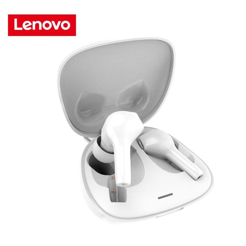 Original LENOVO Ht06 Wireless Bluetooth Headset Stereo Waterproof Handsfree Headphone white