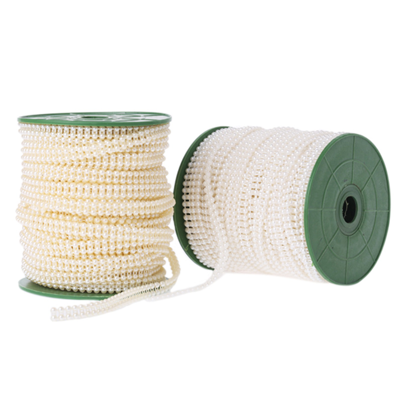 [EU Direct] 4mm Artificial Pearls Beads Strands String Ornaments DIY Wedding Party Decoration 40m/Roll