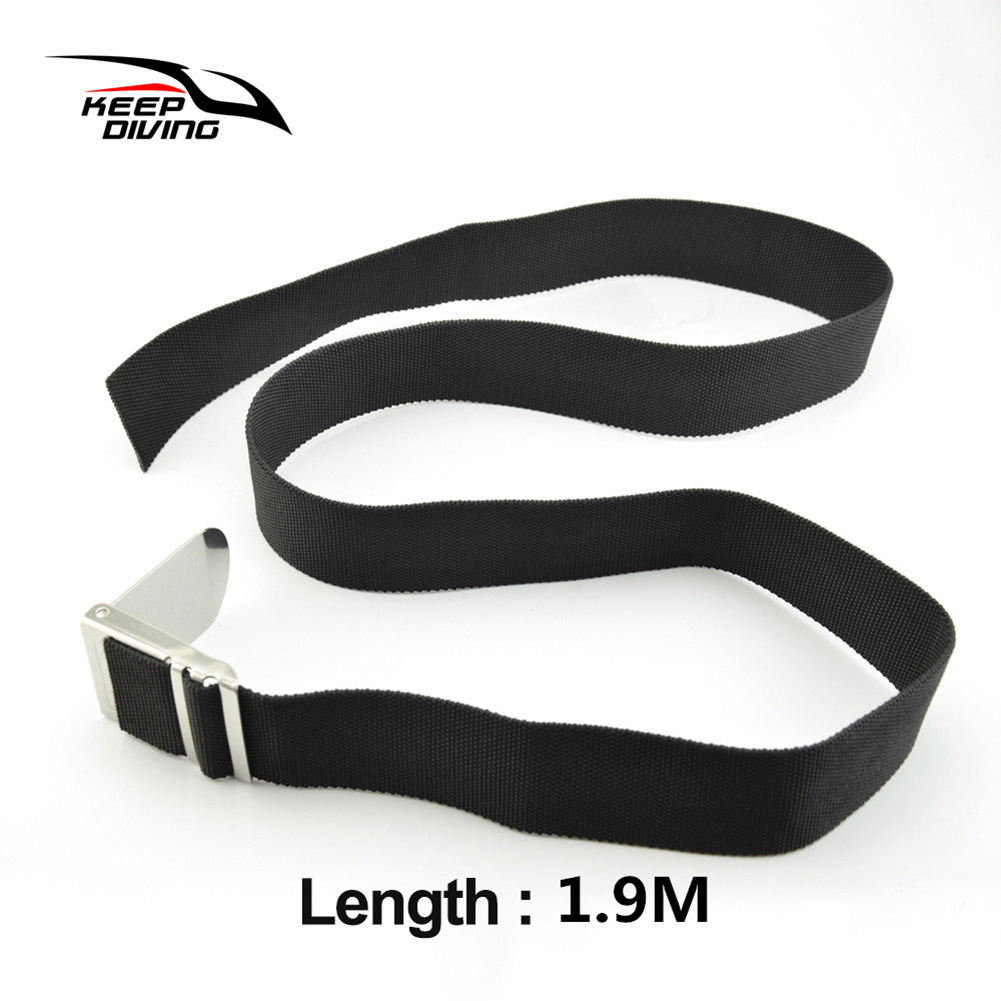Diving Belt Diving Heavy Belt Lead Block Weight Belt Swimming Diving Accessories  Black 1.9 m