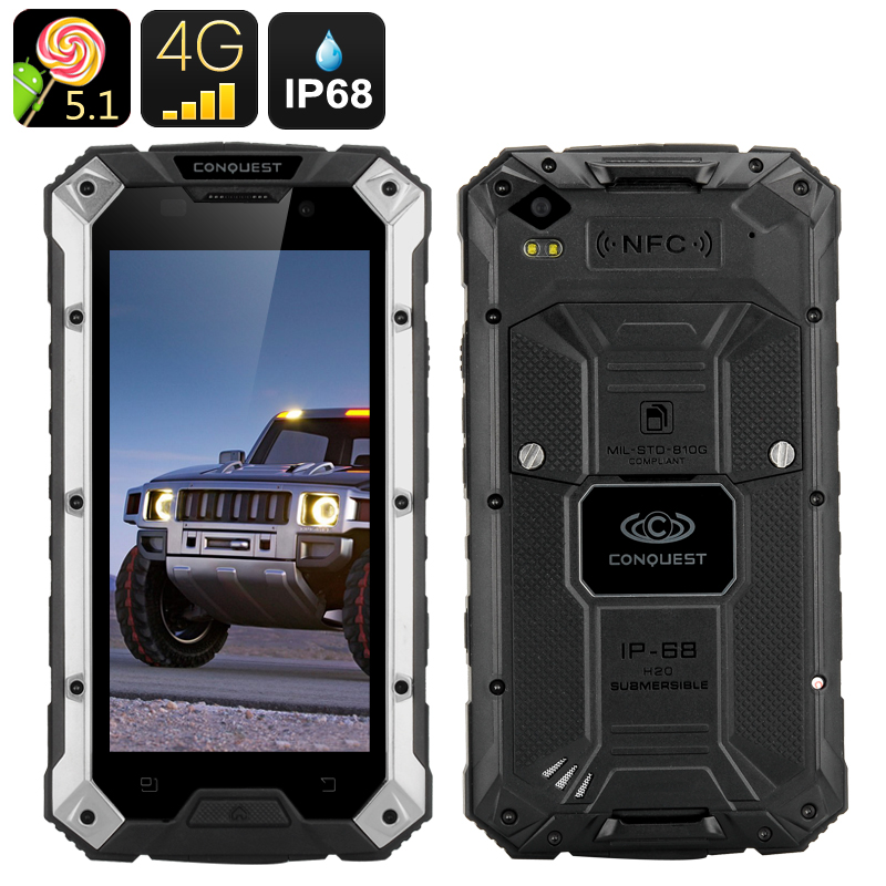 Conquest S6 Rugged Smartphone (Silver Black)