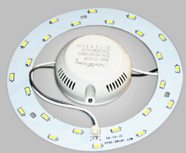 243mm Dia 18W 36 LEDs 5730 SMD Pure White LED Ceiling Light Aluminum Board White