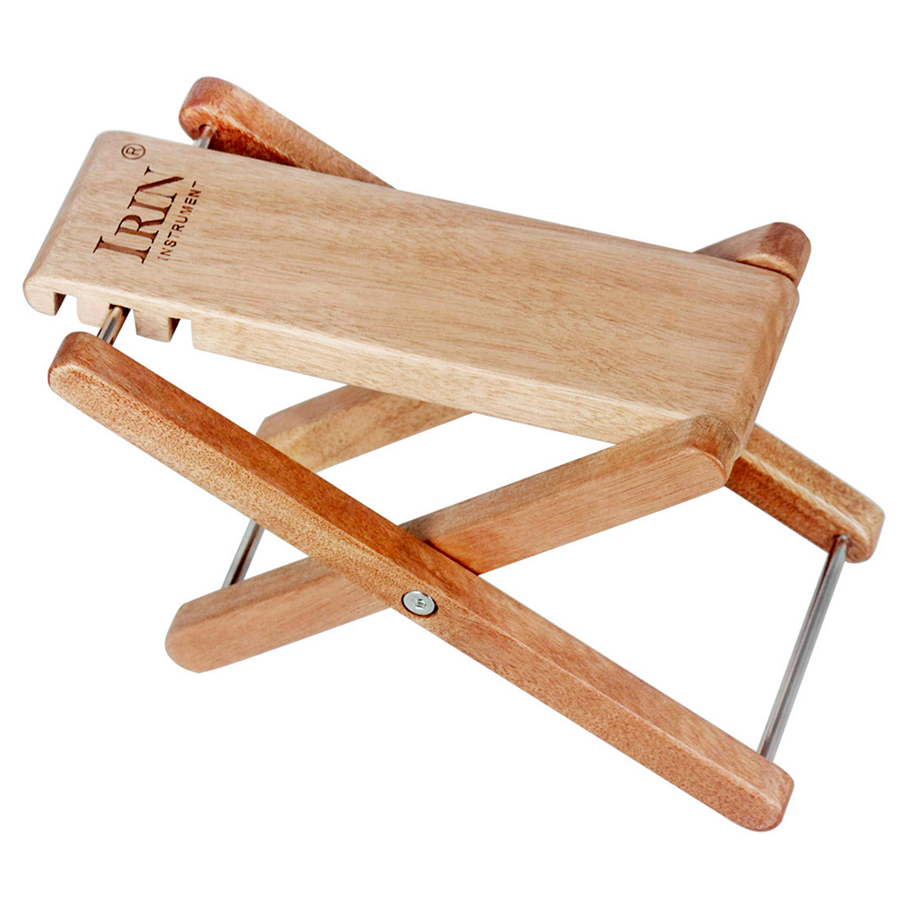 Wooden Guitar Pedal Foldable Footstool 3-gear Height Adjustable Guitar Accessories Wood color