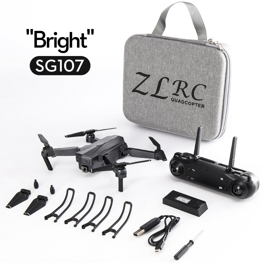 SG107 Mini Drone with Wifi FPV 1080P 4K HD Camera Optical Flow RC Quadcopter Follow Me Mini Dron Foldable Helicopter 1080P dual camera + storage bag