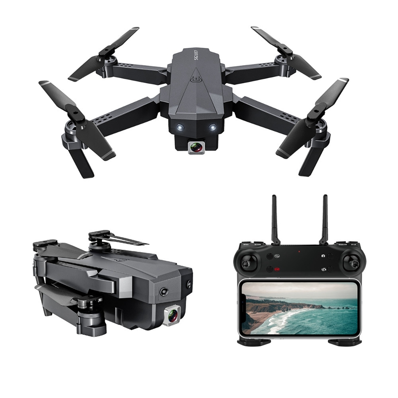 SG107 Mini Drone with Wifi FPV 1080P 4K HD Camera Optical Flow RC Quadcopter Follow Me Mini Dron Foldable Helicopter 1080P dual camera