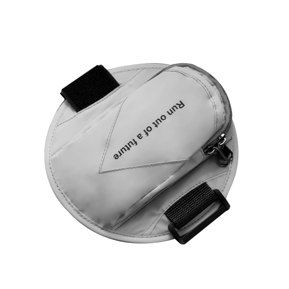 Running Armband Sports Phone Holder Workout Exercise Arm Bag Band Reflective grey