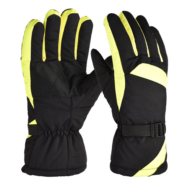 Winter Ski Gloves Snow Outdoor Sport Women Men Waterproof Warm Snowmobile Motorcycle Snowboard Ski Gloves green_One size