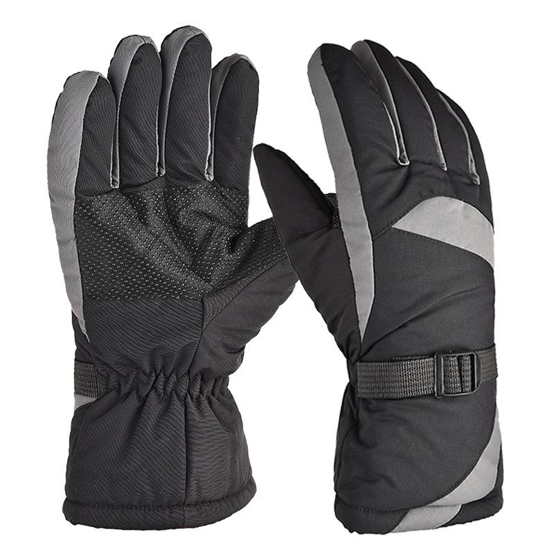 Winter Ski Gloves Snow Outdoor Sport Women Men Waterproof Warm Snowmobile Motorcycle Snowboard Ski Gloves gray_One size