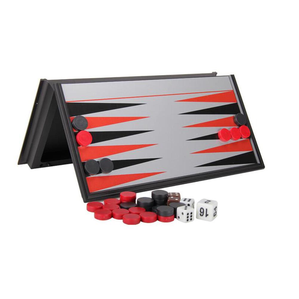 Magnetic Chessboard Backgammon Folding Chess Board Portable Backgammon Board Puzzle Game Backgammon