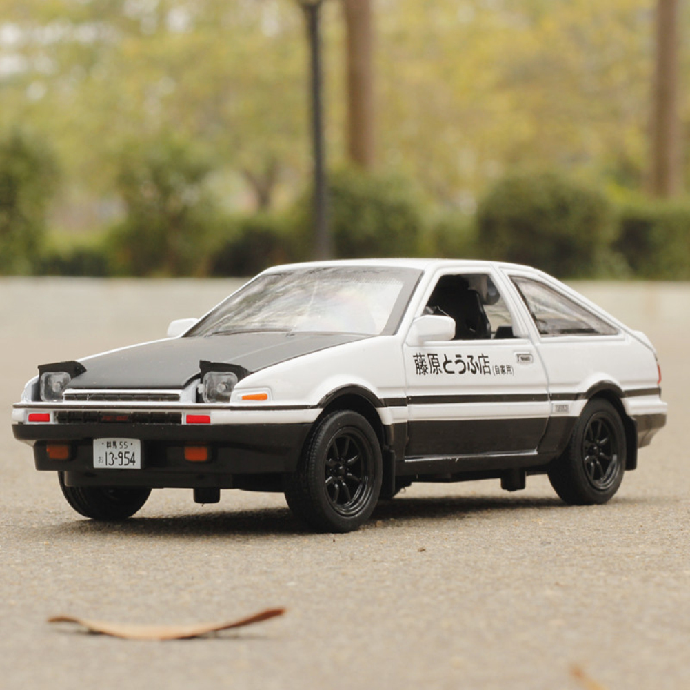 1:32 Simulate Alloy AE86 Car Pull Back Light Sound Modeling Toy(Box Packing) white