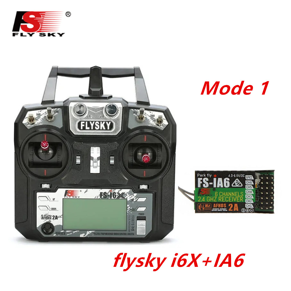 FLYSKY FS-i6X FS i6X 2.4GHz 10CH AFHDS 2A RC Transmitter X6B iA6B A8S iA10B iA6 Fli14+ Receiver for RC FPV Racing Drone Right hand single control+IA6