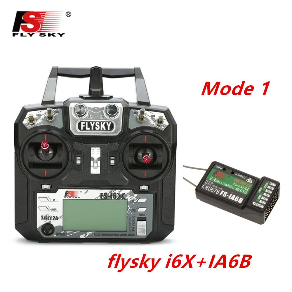 FLYSKY FS-i6X FS i6X 2.4GHz 10CH AFHDS 2A RC Transmitter X6B iA6B A8S iA10B iA6 Fli14+ Receiver for RC FPV Racing Drone Right hand single control+IA6B