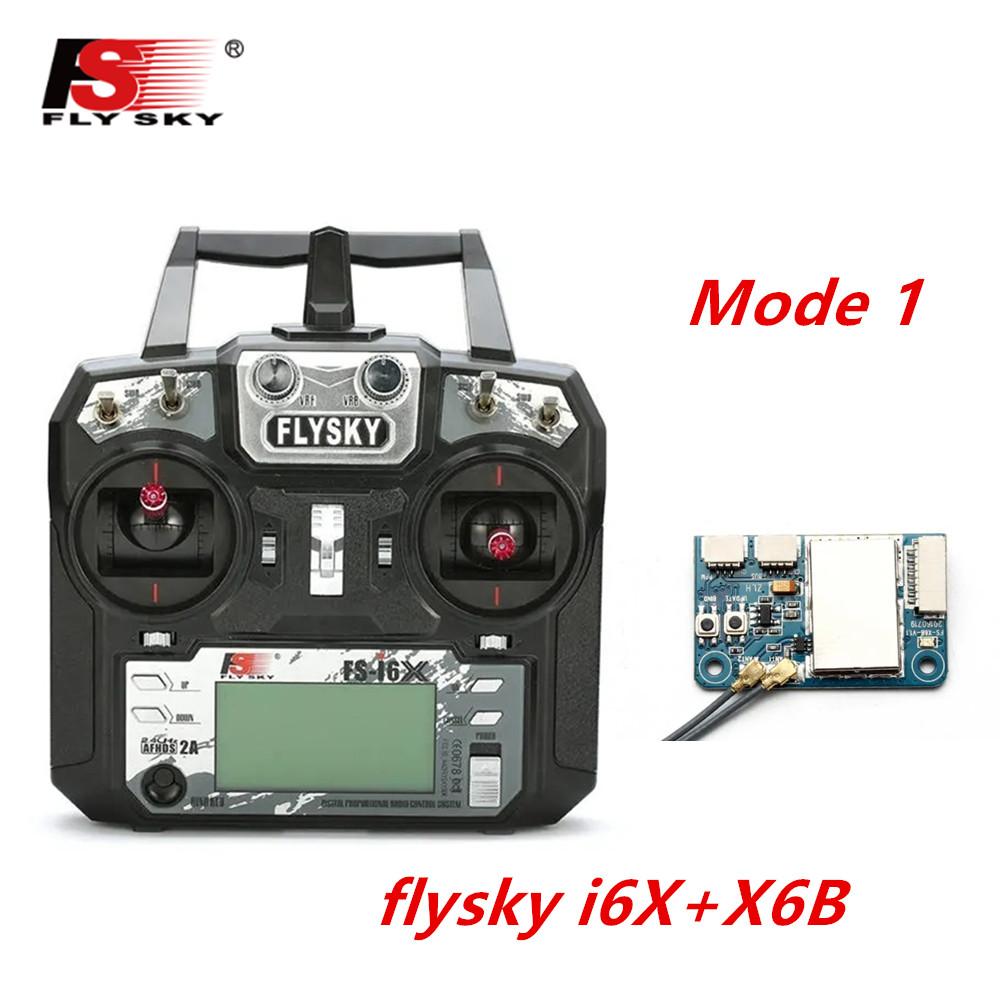 FLYSKY FS-i6X FS i6X 2.4GHz 10CH AFHDS 2A RC Transmitter X6B iA6B A8S iA10B iA6 Fli14+ Receiver for RC FPV Racing Drone Right hand single control+X6B