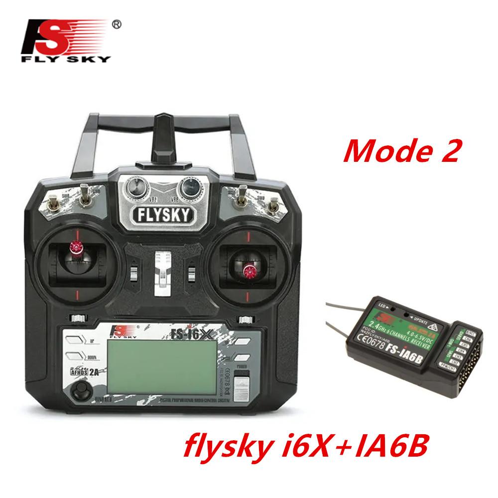 FLYSKY FS-i6X FS i6X 2.4GHz 10CH AFHDS 2A RC Transmitter X6B iA6B A8S iA10B iA6 Fli14+ Receiver for RC FPV Racing Drone Left hand single control+IA6B