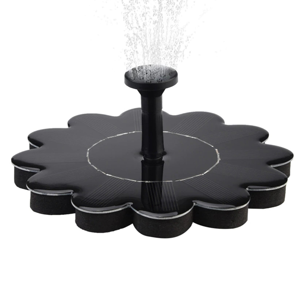 Outdoor Solar Fountain Pump for Pool Garden black