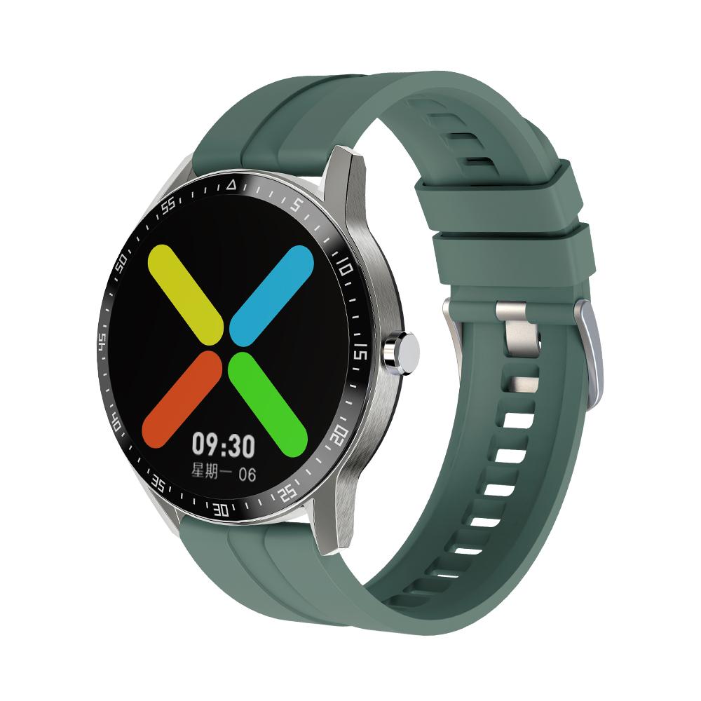G1 Smart Watch Bracelet Round Screen Sports Heart Rate Blood Pressure Iml Ip68 Waterproof Watch green