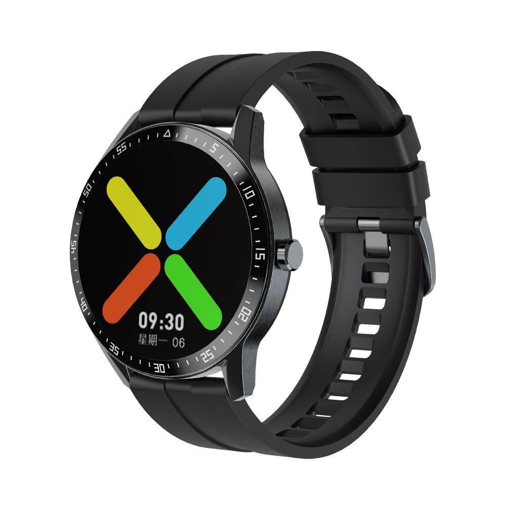 G1 Smart Watch Bracelet Round Screen Sports Heart Rate Blood Pressure Iml Ip68 Waterproof Watch black