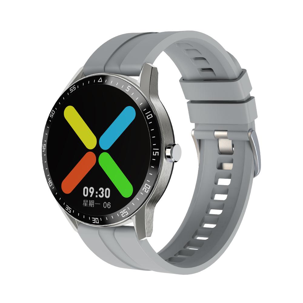G1 Smart Watch Bracelet Round Screen Sports Heart Rate Blood Pressure Iml Ip68 Waterproof Watch Silver