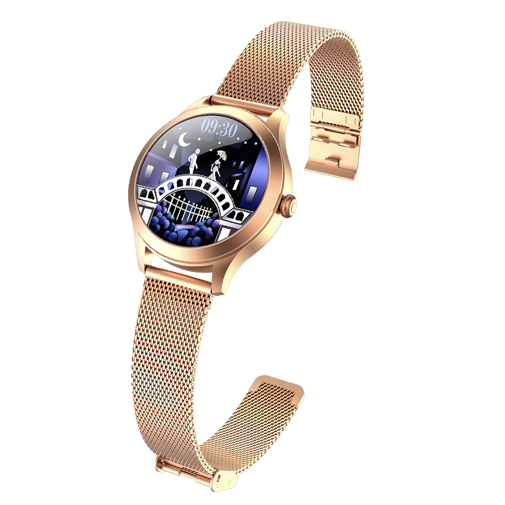 Kw10pro Women Smart Bracelet Pedometer Heart Rate Exercise Sleep Monitoring Menstruation Reminder Golden