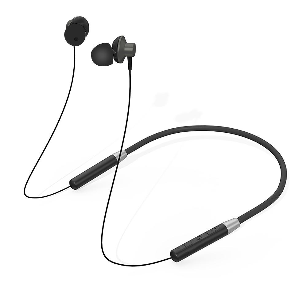 Original Lenovo HE05 Bluetooth Headphones IPX5 Waterproof Sport Wireless Earphones Sweatproof Earbuds with Mi black