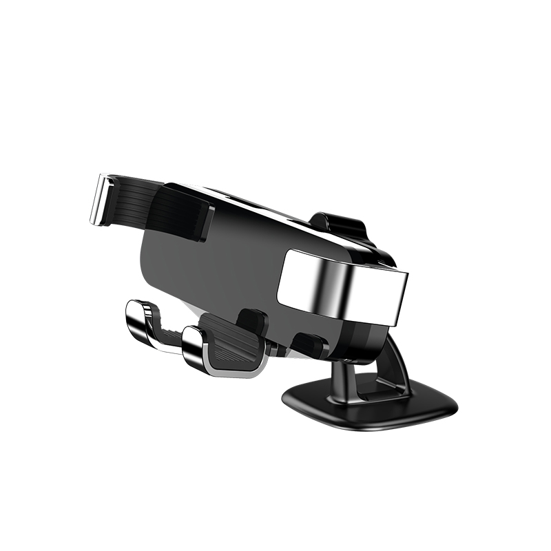 Adjustable Phone  Mounting  Suction  Cup  Holder Car Air Outlet Phone Navigation Suction Cup Bracket Paste style silver