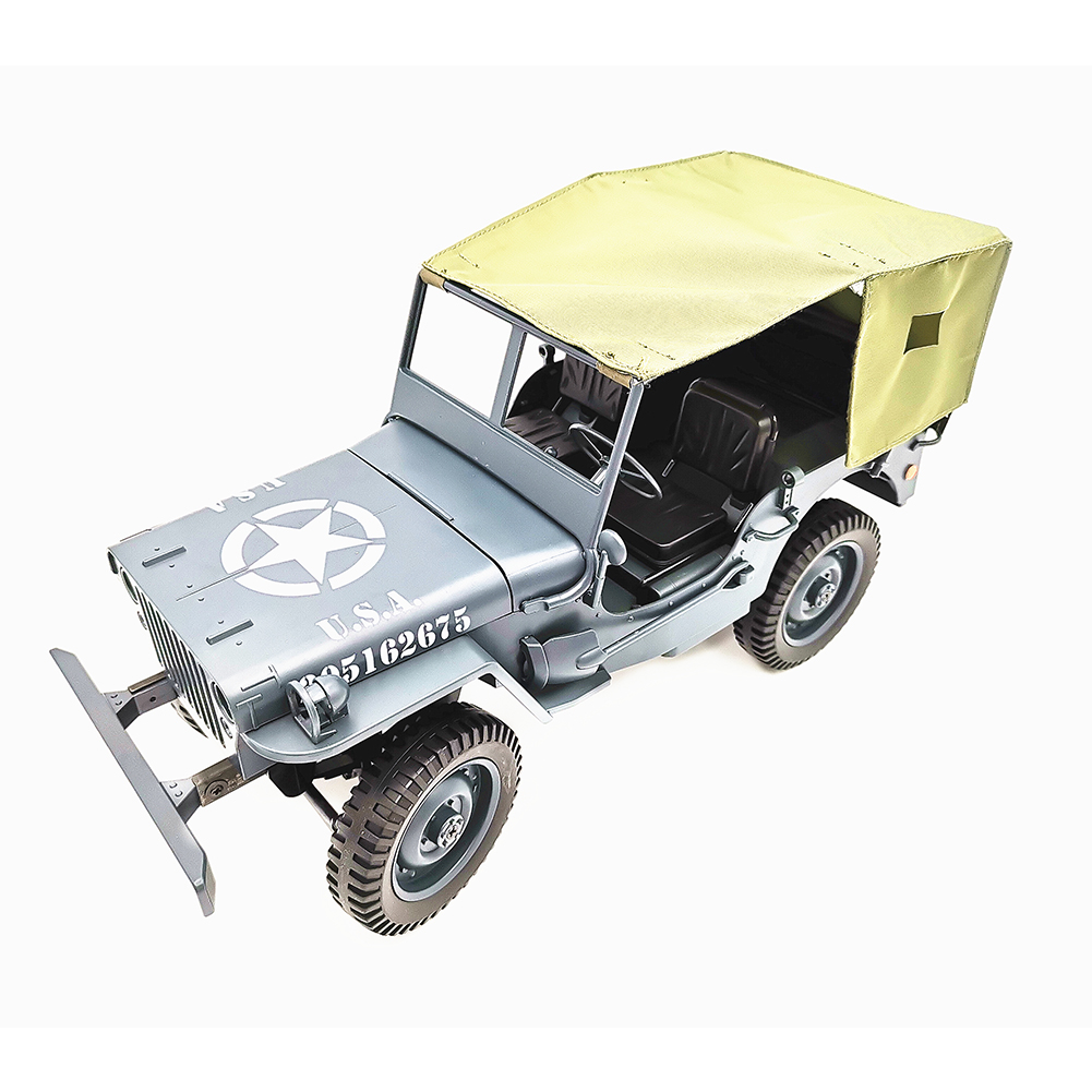 1:10 Remote Control Car C606 Four-wheel Drive Climbing Jeep RC CAR Convertible Toy Car Army blue with shed vehicle_1:10