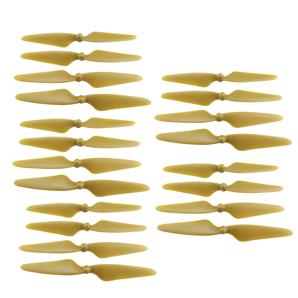 20 Pcs Propeller Blades Propellers for HUBSAN H501S X4 / H501C MJX B3 RC Quadcopter  gold