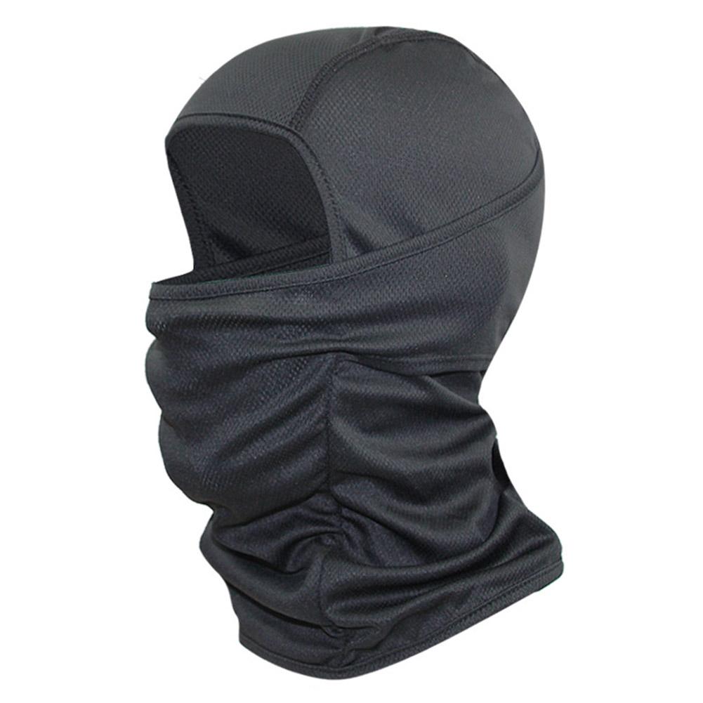 Riding Balaclava Cycling Headgear Breathable Sun Protection Under Helmet Coldgear Infrared Balaclava black_One size L56-60CM