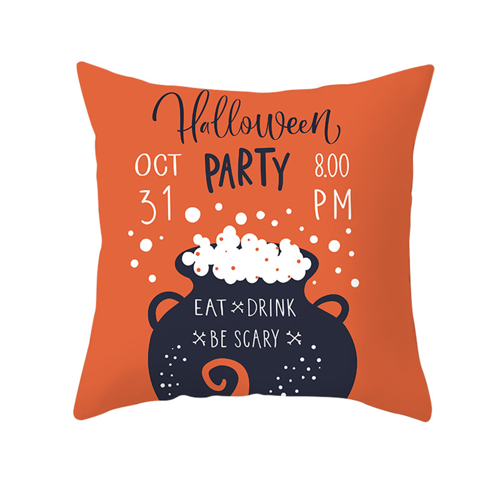 Halloween Series Orange Geometric Pillow Cover Home Party Decoration TPR184-23_45*45cm (without pillow)