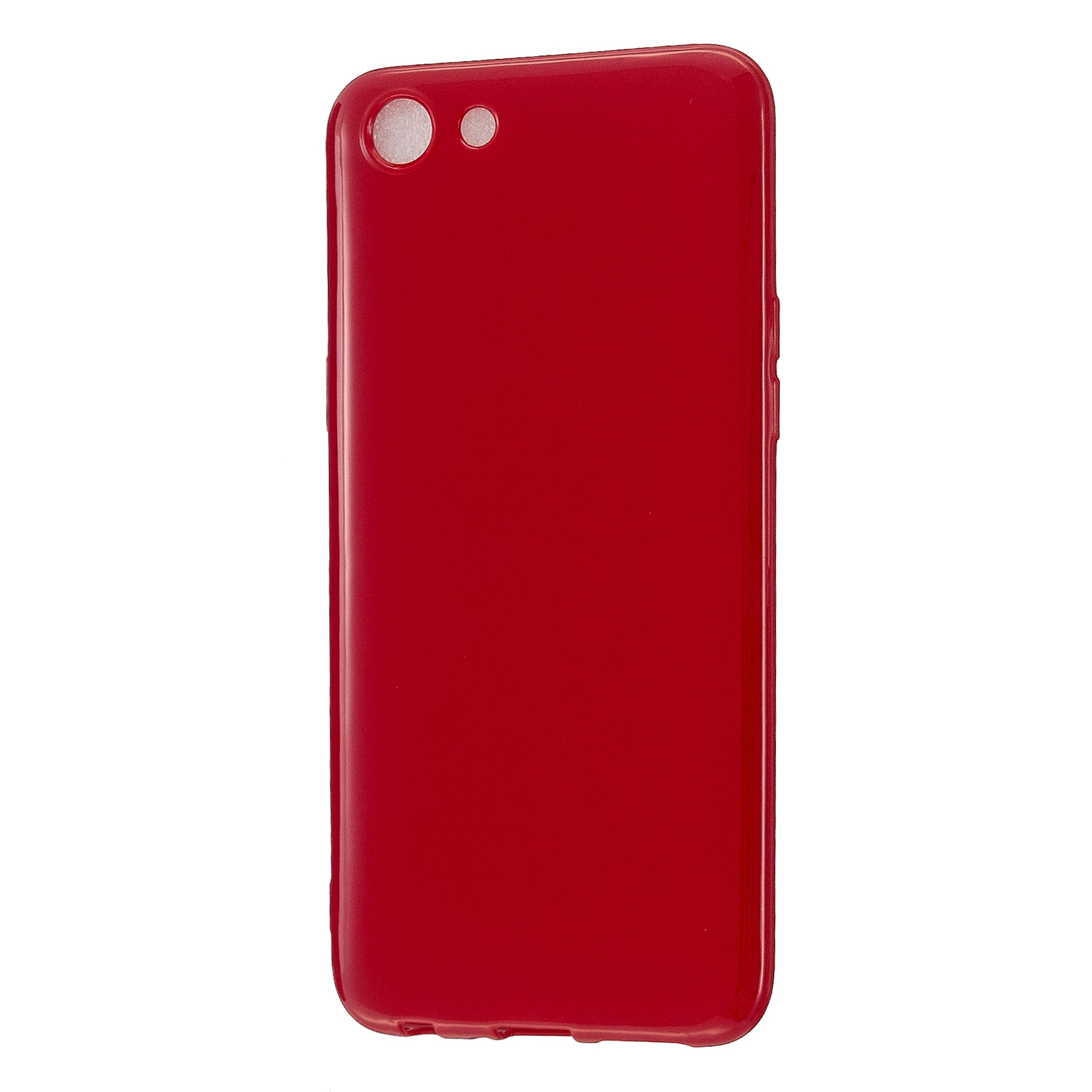 For VIVO Y67/Y71 Cellphone Cover Glossy TPU Phone Case Anti-Dust Stain-proof Easy Install Screen Protector Rose red