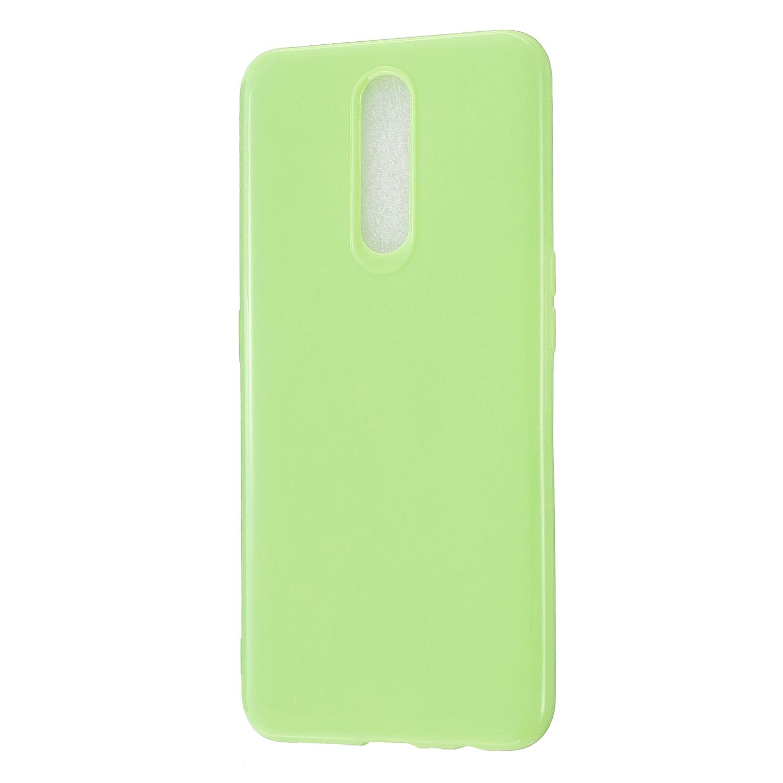 For OPPO F11/F11 Pro Cellphone Cover Glossy TPU Simple Profile Bumper Protective Mobile Phone Case Fluorescent green