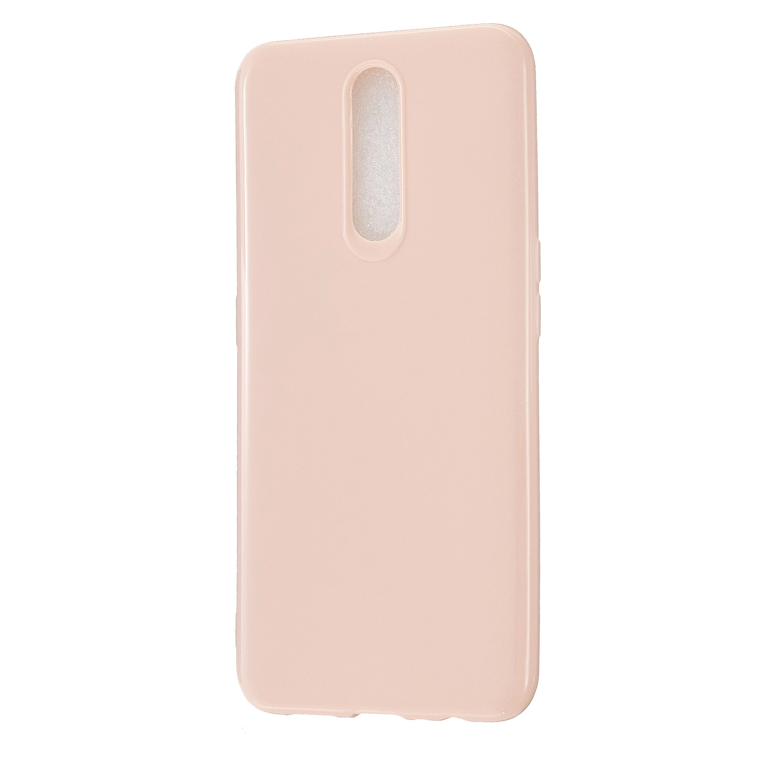 For OPPO F11/F11 Pro Cellphone Cover Glossy TPU Simple Profile Bumper Protective Mobile Phone Case Sakura pink
