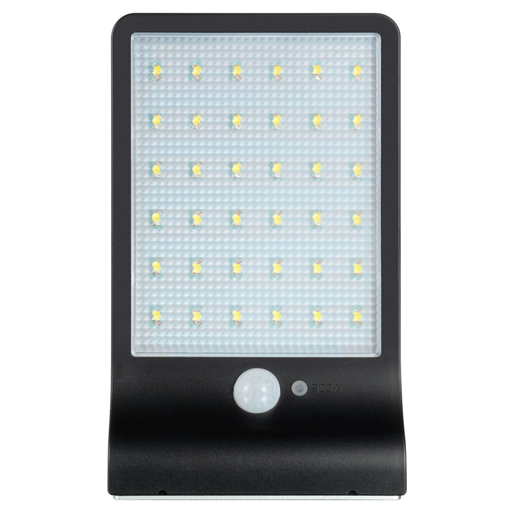 Solar Light Integrated Induction Wall Mounted Lamp Energy Saving 36LED Garden Light Lamp Black