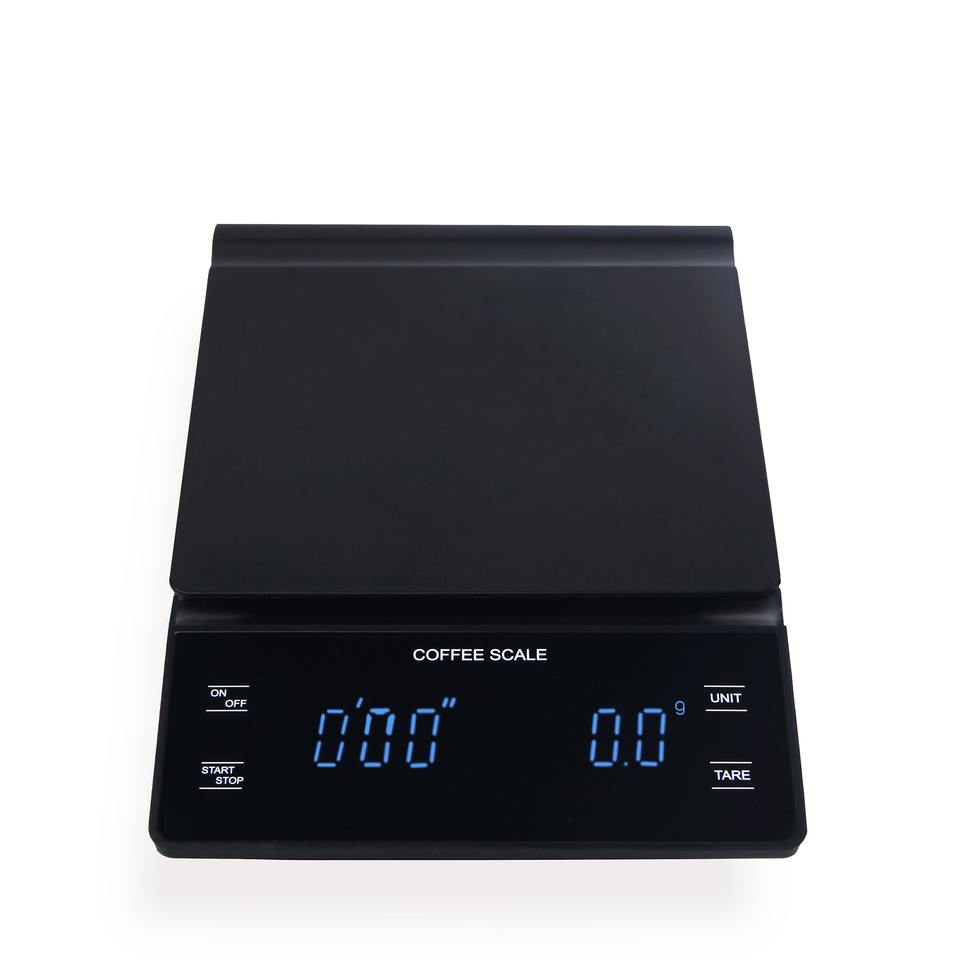 0.1g Digital Coffee Scale with Timer Electronic Scales Food Balance Measuring Weight Kitchen Coffee Scales black