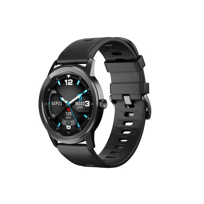 Smart Bracelet Full Touch Screen Round Smart Watch Waterproof Heart Rate Sphygmomanometer black