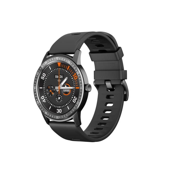 Smart Bracelet Full Touch Screen Round Smart Watch Waterproof Heart Rate Sphygmomanometer Black with scale