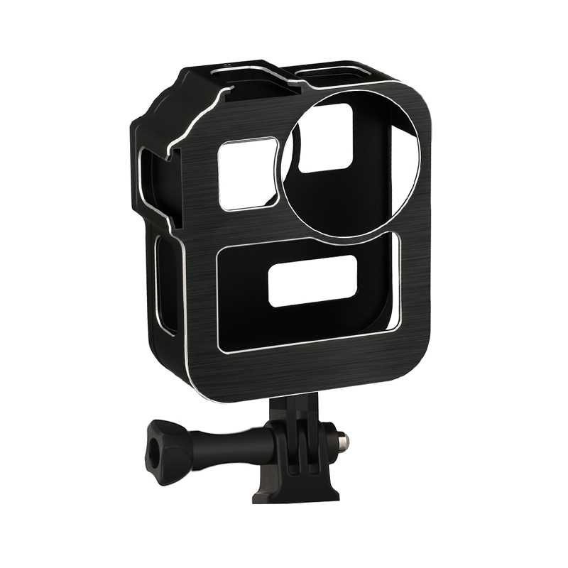 Case for Gopro Max Cage Protection Frame Mount Stand Housing Shell for Go Pro Max Panoramic Action Camera Accessories black