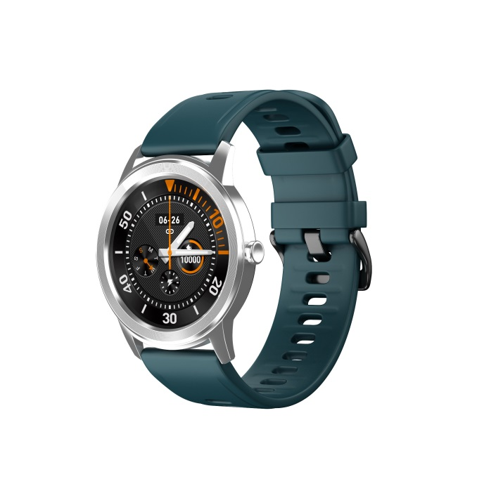 Smart Bracelet Full Touch Screen Round Smart Watch Waterproof Heart Rate Sphygmomanometer Silver