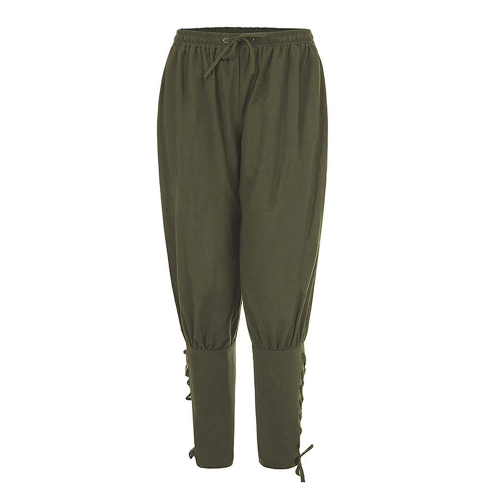 Men Summer Casual Pants Trousers Quick-drying Sports Pants green_S