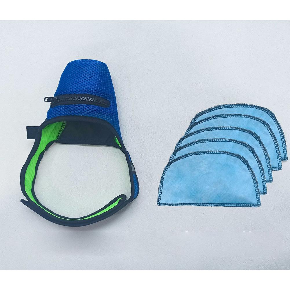 N95 Mask Anti-haze with Breathing Valve Dog Anti Virus Masks for Small Medium Large Pet 1 mask + 5 mask pads_S