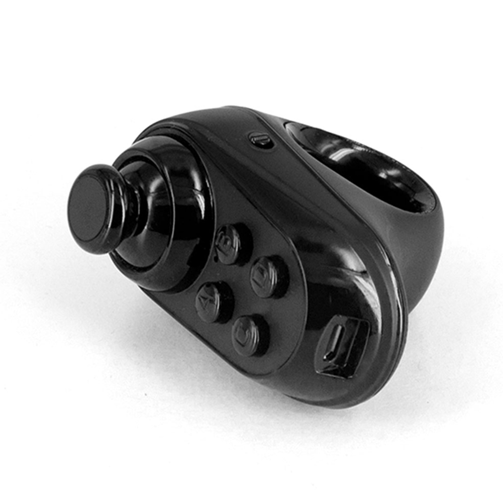 Game Controller R1 Mini Ring Bluetooth4.0 Rechargeable Wireless VR Remote Game Controller Joystick Gamepad for Android 3D Glasses black