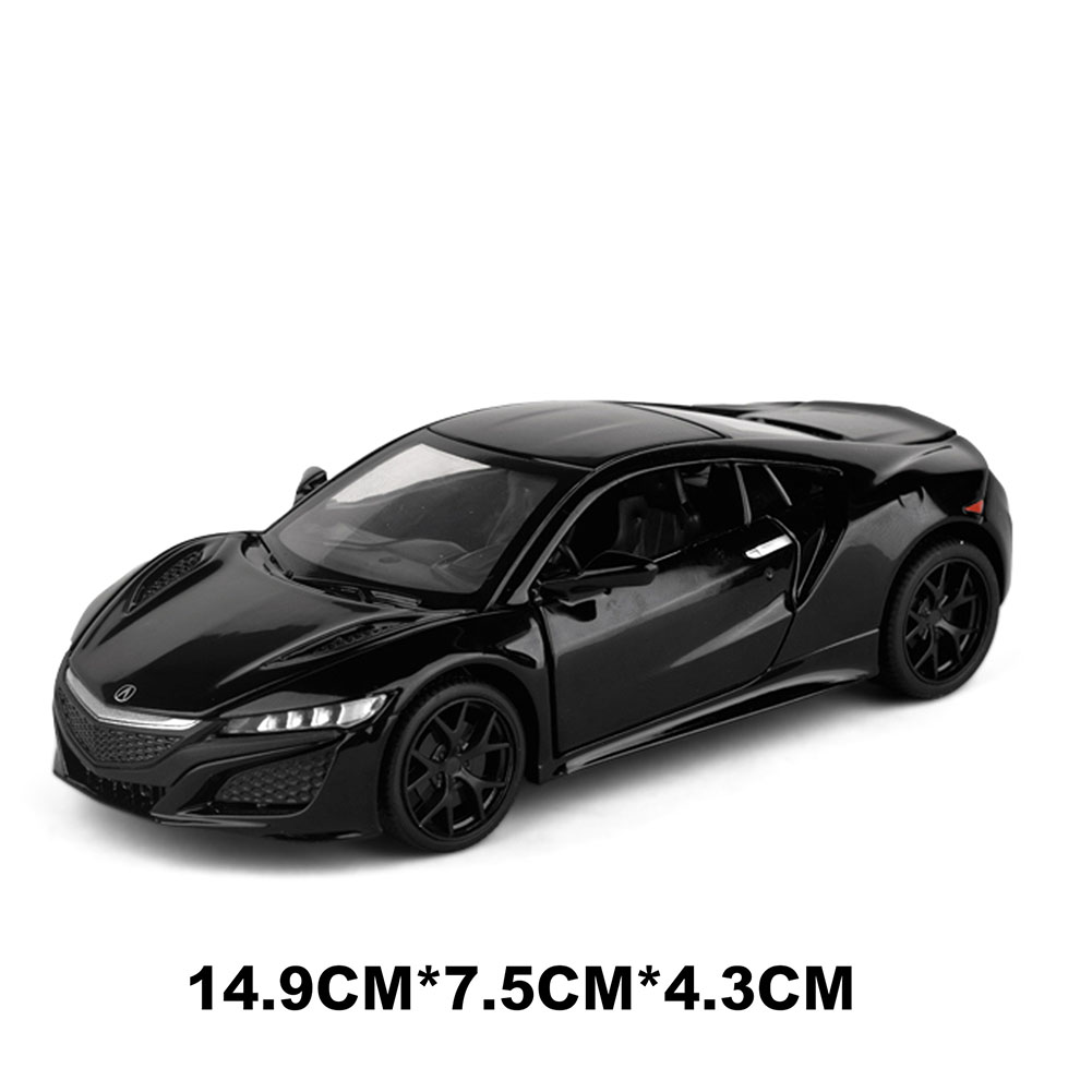 Children 1/32 Simulation Alloy Pull back Sound and Light Simulation Car Mold Gift Ornaments Decoration black