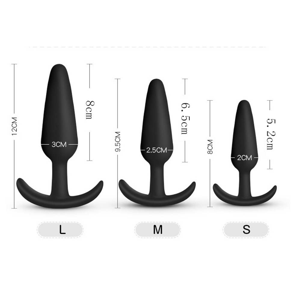 Safe Silicone Dildo Butt Plug Anal Plugs Sexy Stopper Adult Sex Toys for Men/Women Trainer Massager M