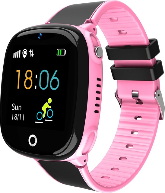 HW11 Smart Watch Kids GPS Bluetooth Pedometer Positioning IP67 Waterproof Watch for Children Safe Smart Wristband Android IOS Pink