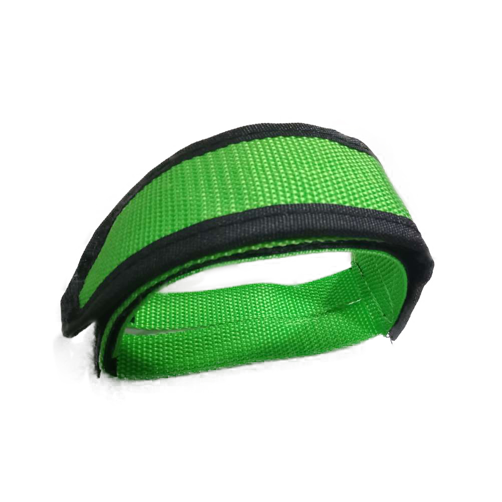 1 Pcs Bike Pedal Straps for Fixed Gear Bike, Lightweight Foot Toe Straps for Bike Pedals Green