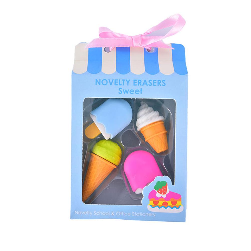 Food Cake Shape Eraser Children Gift Kids Cartoon Rubber  Eraser Stationery NOVELTY ERASERS Sweet