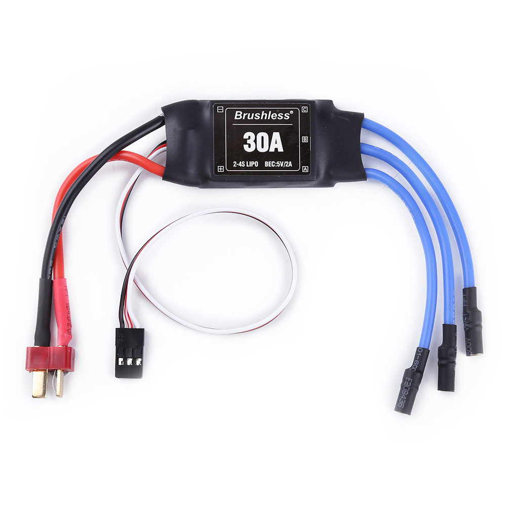 XXD 30A 2-4S ESC Brushless Motor Speed Controller RC BEC ESC T-rex 450 V2 Helicopter Boat for FPV F450 Mini Quadcopter Drone T plug banana head