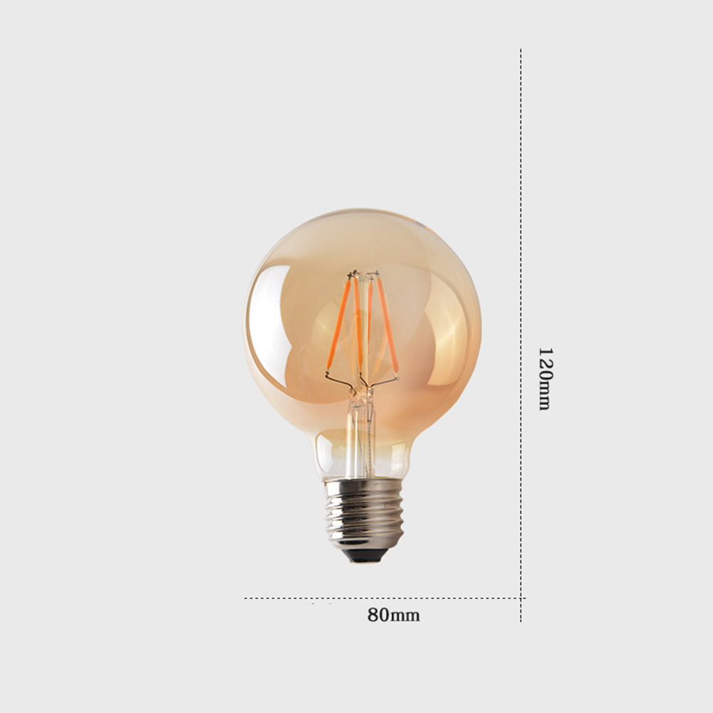 LED Industrial Bulb Dark Brown Light Adjustable Lamp 220V ST64 A60 G80 G45 E27